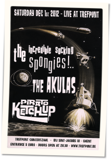 The Akulas 01-12-2012  Triple Bill Surf Night Gent